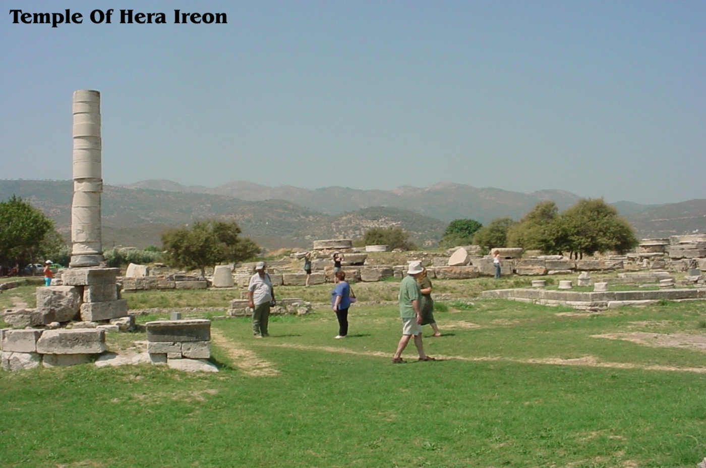temple of hera ireon samos greece